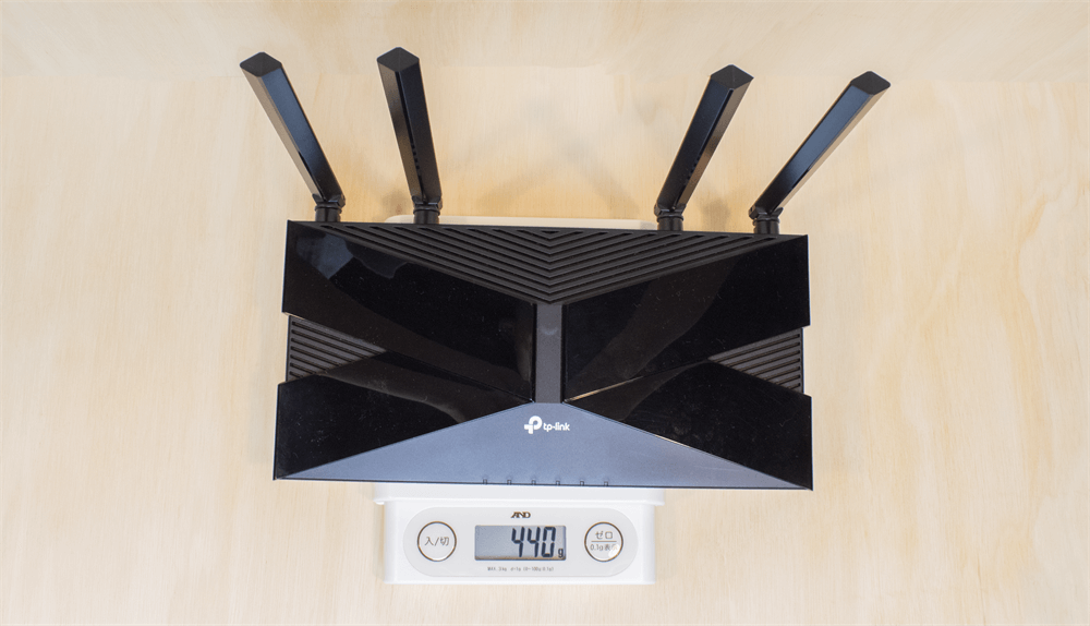 TP-Link Archer AX20の重さは440g