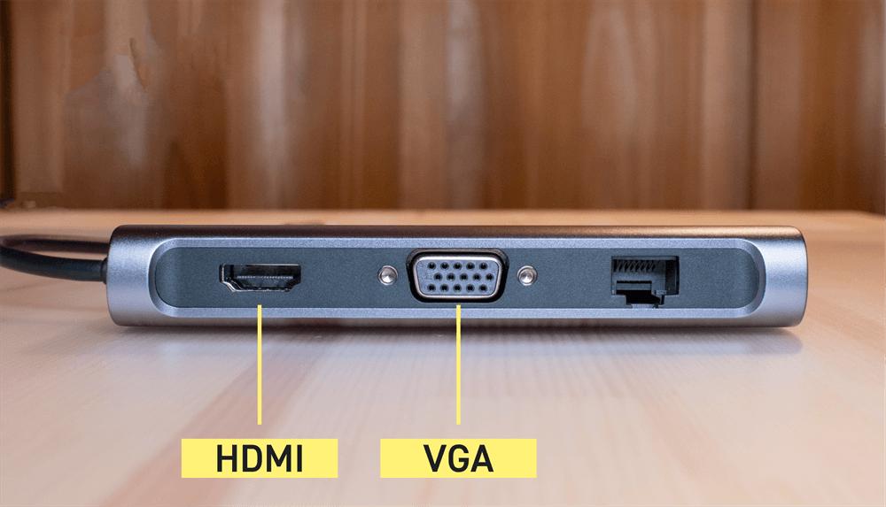 UGREEN USB-Cハブ 10in1のHDMI,VGAポート