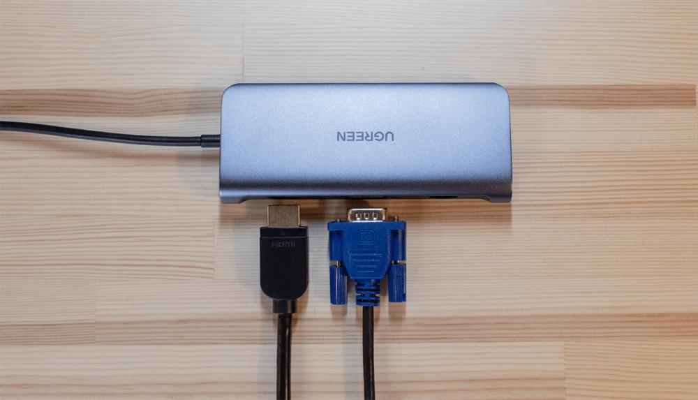 UGREEN USB-Cハブ 10in1はHDMIとVGAの同時出力はできない